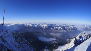 Looking north from the Zugspitze - Feb 2013