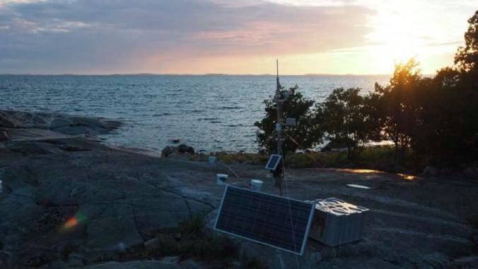 Installed monitoring system at Langoren Island, Finland